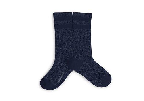Collegien Knee sock lurex glitter - Nuit Etoile