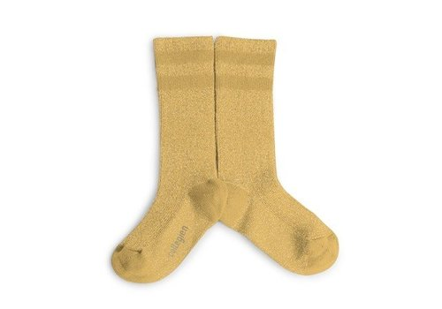 Collegien Knee sock lurex glitter - Miel Dore