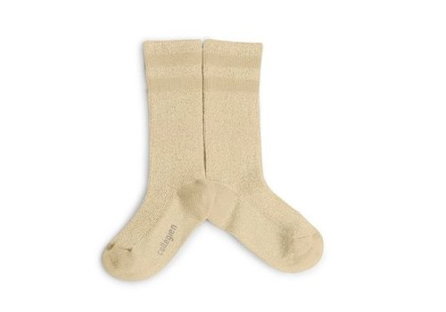 Collegien Knee sock lurex glitter - Dune Pyla