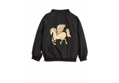 Mini Rodini Pegasus Baseball Jacket Black