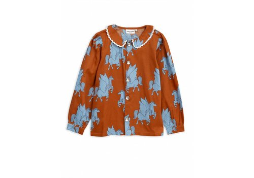 Mini Rodini Pegasus woven blouse Brown