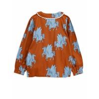 Pegasus woven blouse Brown