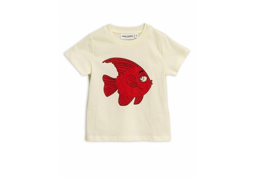 Mini Rodini Fish sp tee Offwhite