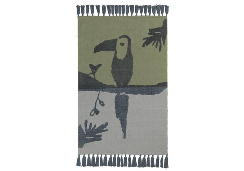 Nofred TOUCAN RUG // PETROLEUM
