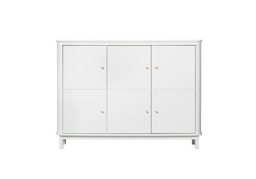 Oliver Furniture KAST WOOD MULTI CUPBOARD 3 DOORS – WHITE