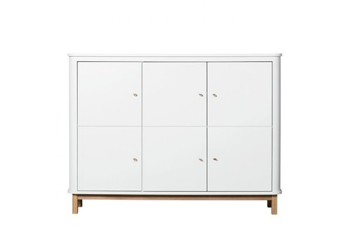 Oliver Furniture WOOD MULTI CUPBOARD 3 DOORS WHITE-OAK
