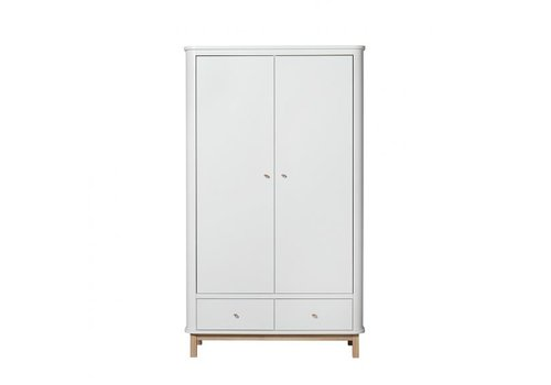 Oliver Furniture WOOD WARDROBE 2 DOORS – WHITE/OAK