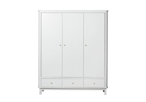 Oliver Furniture KAST WOOD WARDROBE 3 DOORS – WHITE