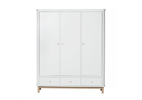 Oliver Furniture KAST WOOD WARDROBE 3 DOORS – WHITE/OAK