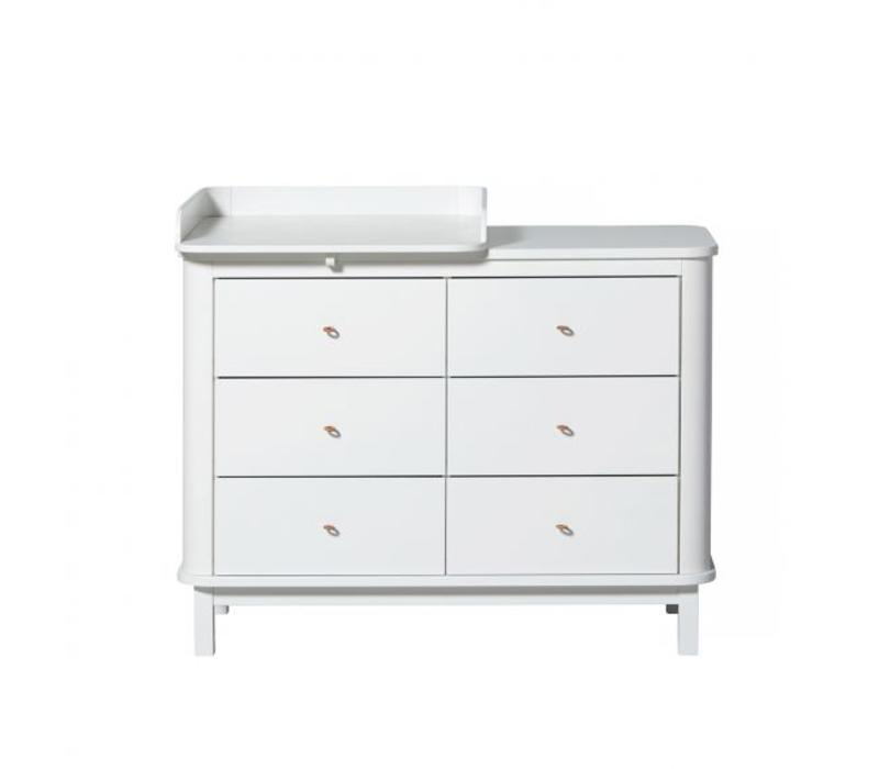 Oliver Furniture Wood Nursery Dresser 6 Drawers W Top Small White