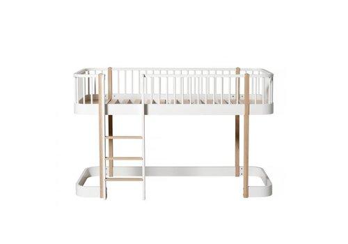 Oliver Furniture WOOD LOW LOFT BED 90X200 WHITE-OAK