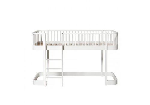 Oliver Furniture WOOD LOW LOFT BED 90X200 WHITE