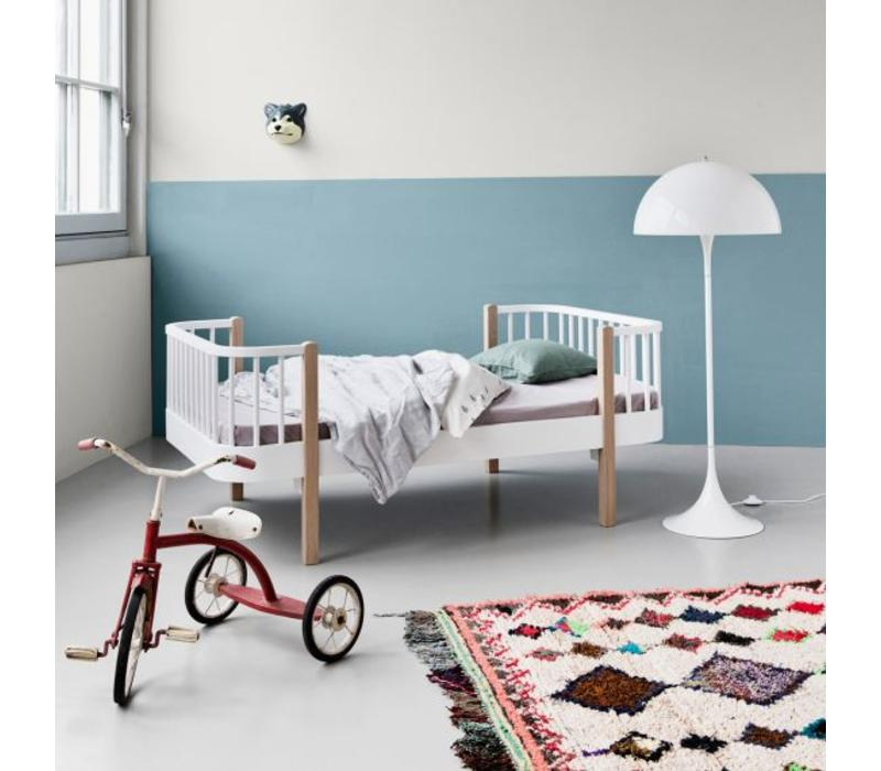 WOOD JUNIOR BED 90X160 OAK-WHITE