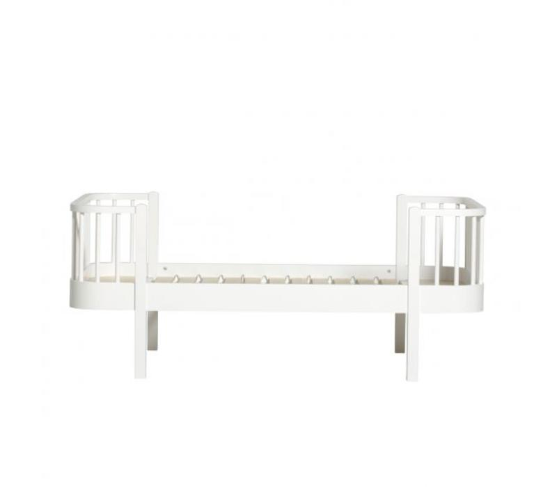 WOOD JUNIOR BED 90X160 WHITE