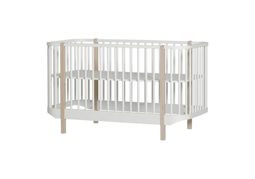 Oliver Furniture LEDIKANT WOOD COT 70X140 WHITE-OAK