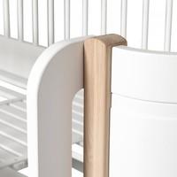 WOOD MINI+ LOW LOFT BED WHITE/OAK 68x162CM