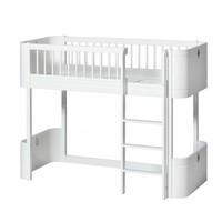 WOOD MINI+ LOW LOFT BED WHITE 68x162CM