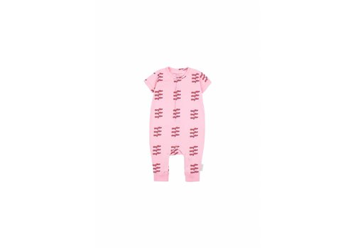 Tiny Cottons Hey You SS One -Piece Pink/Red