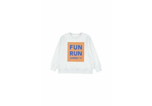 Tiny Cottons Fun Run Sweatshirt Light Mint/Camel