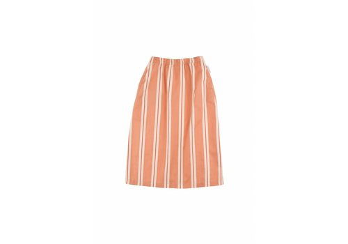 Tiny Cottons Retro Stripes Long Skirt Terracotta/Cream