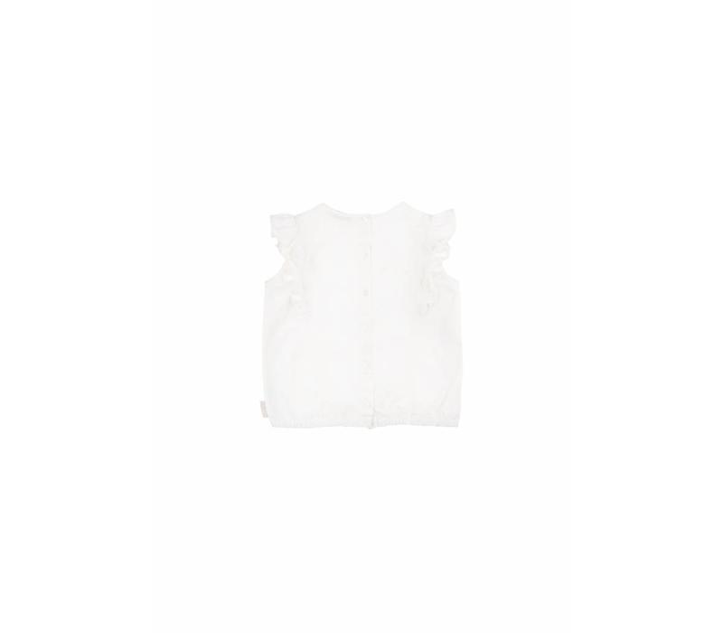 BFFs' Ruffles Blouse Off-White/Red