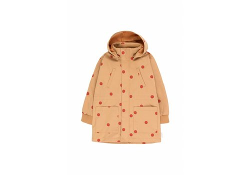 Tiny Cottons Happy Face Jacket Camel/Red