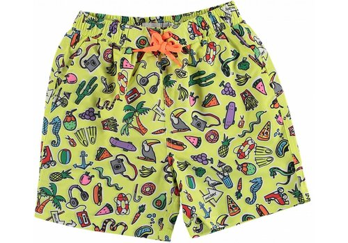 Stella McCartney Kids Toys & Food Swim Shorts Aop Yellow