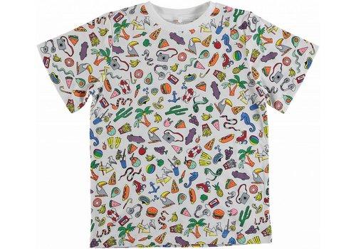Stella McCartney Kids Toys & Food Ss Tee Aop White