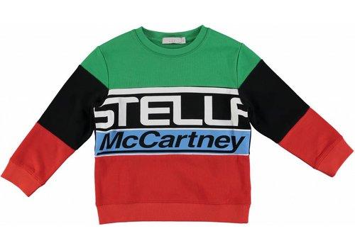 Stella McCartney Kids Stella Logo Sweat Multic. Palm Green
