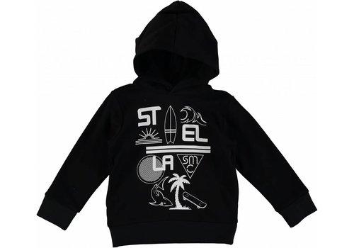 Stella McCartney Kids Stella Palm Hooded Sweat Black