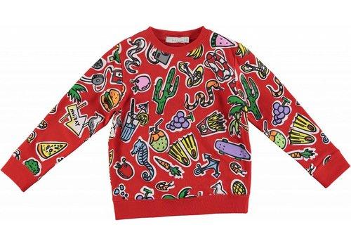 Stella McCartney Kids Toys & Food Sweater Aop red