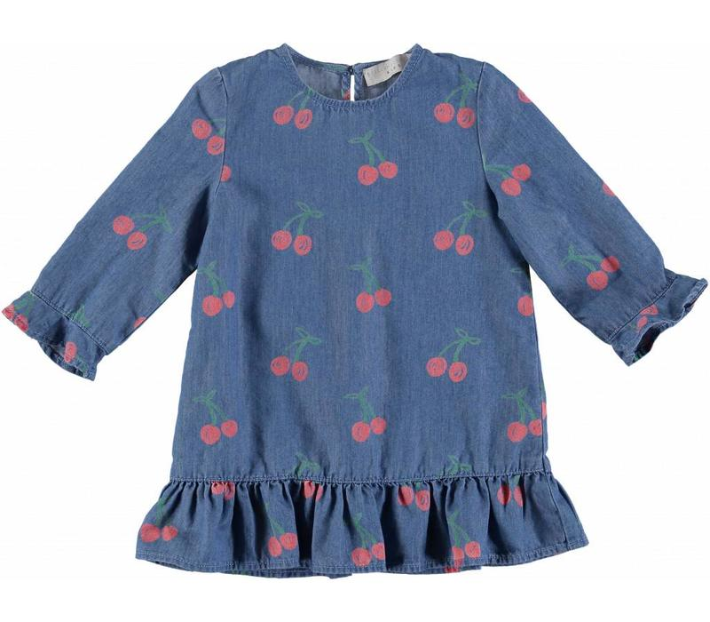 Cherry Chambray Dress Cherry Aop On Chambr
