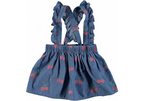 Stella McCartney Kids Cherry Chambray Skirt Cherry Aop On Chambr