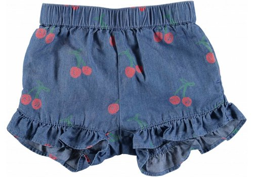 Stella McCartney Kids Cherry Chambray Short Trs Cherry Aop On Chambr