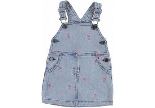 Stella McCartney Kids Embro Palms Dress Embro Pink Palm Deni