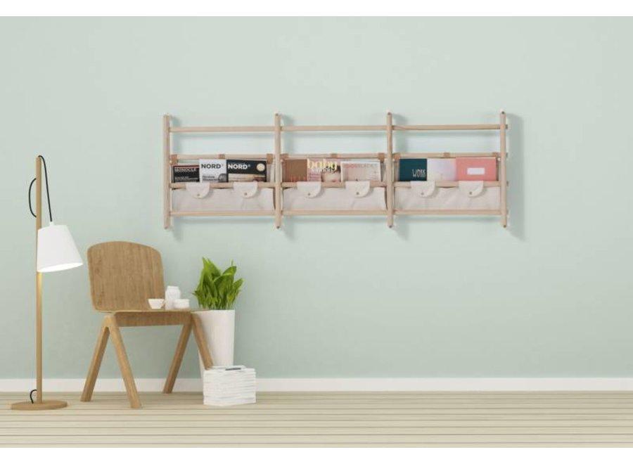 Canvas shelf for wall-bars / Dark Grey