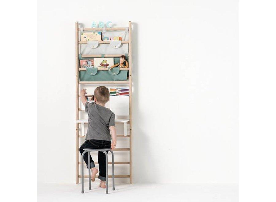 Canvas Organizer for wall-bars / Dusty Aqua