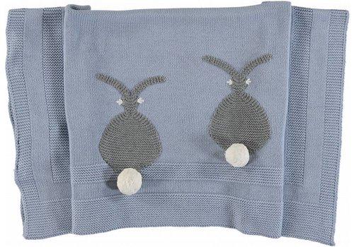 Stella McCartney Kids Rabbit Blanket Sky