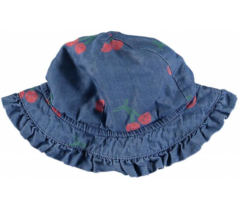Cherry Chambray Hat Cherry Aop On Chambr