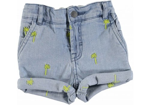 Stella McCartney Kids Embro Palms Shorts Embro Fl Yel Denim