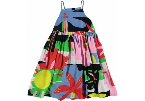 Stella McCartney Kids Multicolor Palms Dress Colorful Palms/Sun B