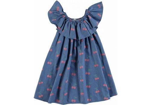 Stella McCartney Kids Cherry Chambray Dress Cherry Aop On Chambr