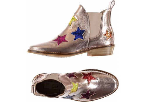 Stella McCartney Kids Glitter Star Boots Pearl Pink