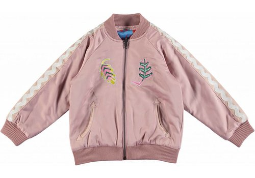 Stella McCartney Kids Palm Leaf Reversible Jacket Dusky Rose