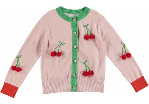 Stella McCartney Kids Cherry Cardigan Pearl Pink