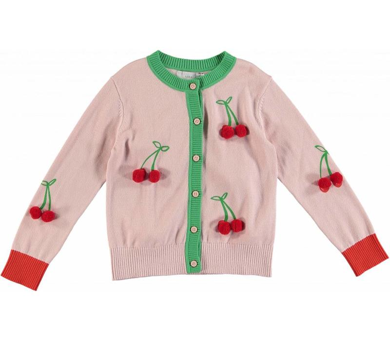 Cherry Cardigan Pearl Pink