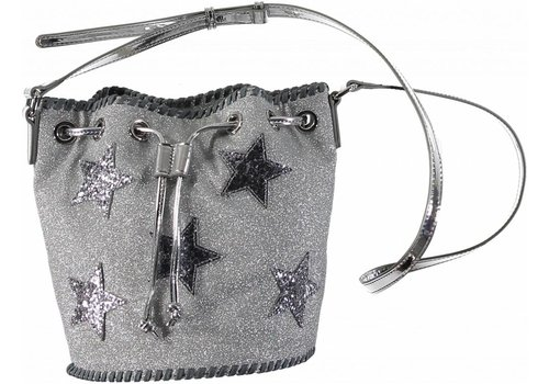 Stella McCartney Kids Glitter Bucket Bag Storm Grey