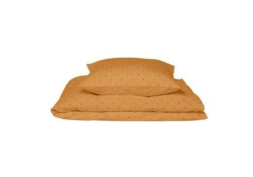 Liewood Carl adult bedding print Classic dot mustard