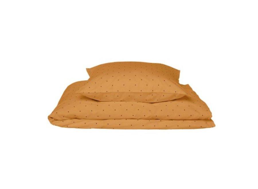 Carl adult bedding print Classic dot mustard