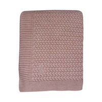 BABY SOFT KNITTED BLANKET PALE PINK
